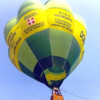 mongolfiera in volo vincolato