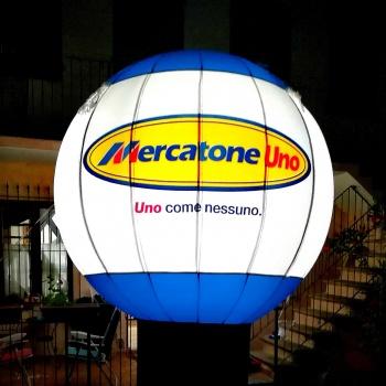 sfera gonfiabile Mercatone Uno