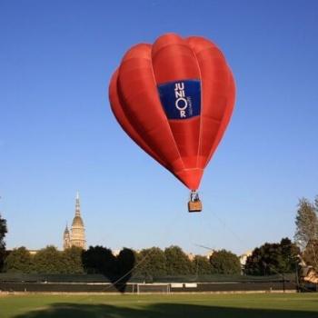 Mongolfiera in volo vincolato per inaugurazioni