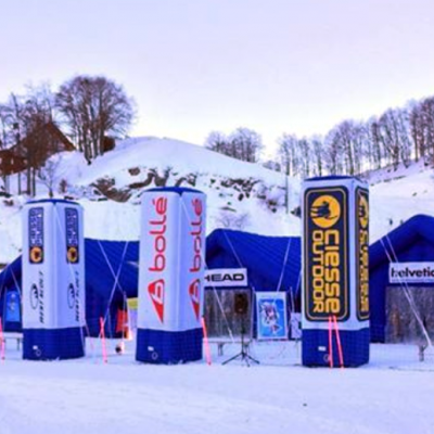 Stand gonfiabili tour delle alpi